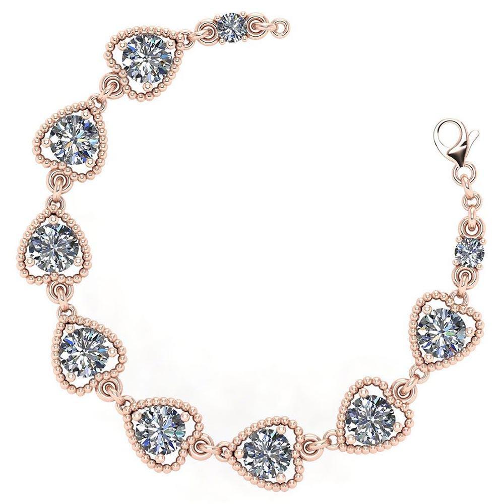 Certified 3.80 Ctw Diamond VS/SI1 Bracelet 14K Rose Gol