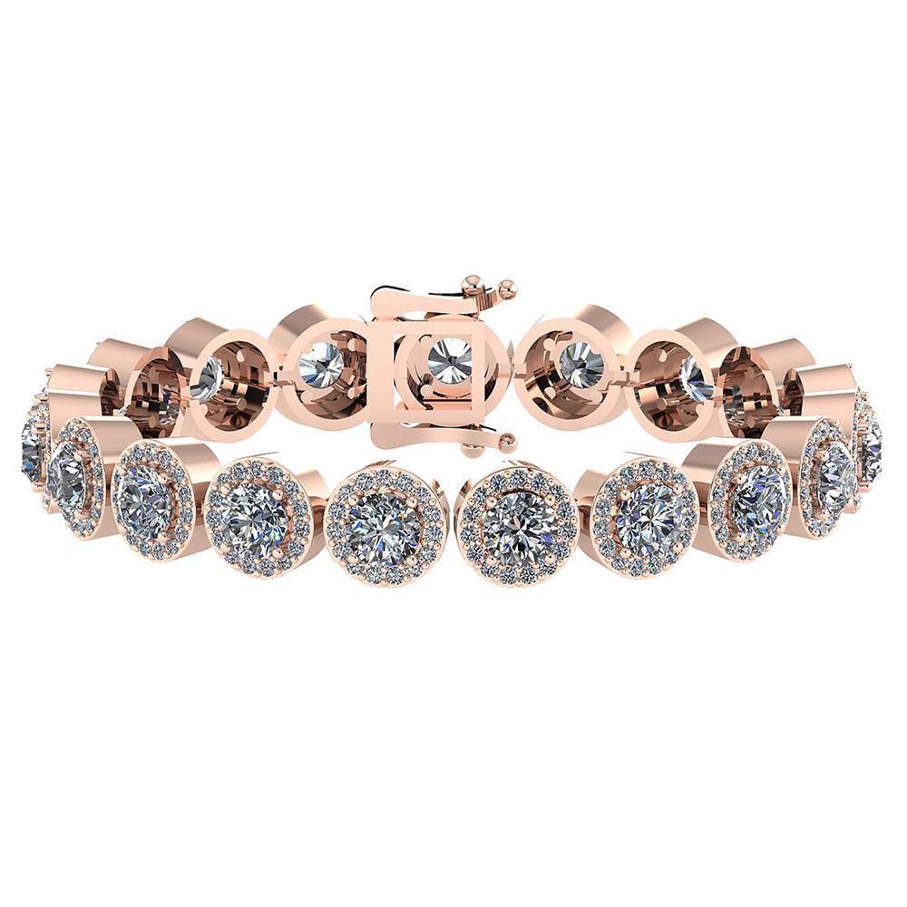 Certified 6.17 Ctw Diamond VS/SI1 Bracelet 14K Rose Gol