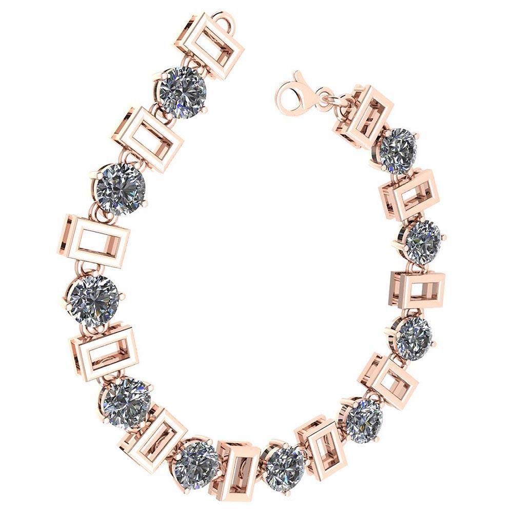 Certified 5.00 Ctw Diamond VS/SI1 Bracelet 14K Rose Gol