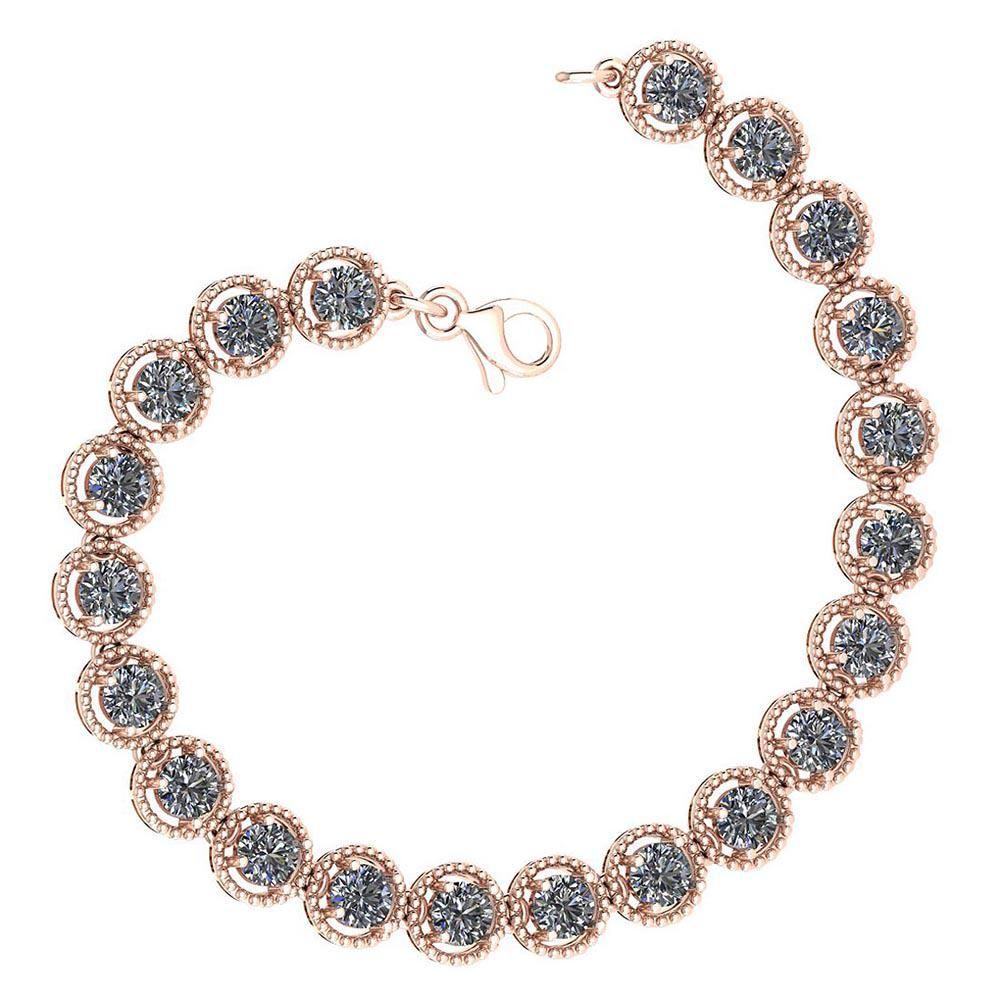 Certified 5.25 Ctw Diamond VS/SI1 Bracelet 14K Rose Gol