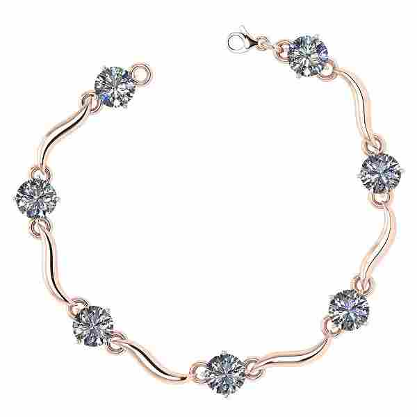 Certified 350 Ctw Diamond VSSI1 Bracelet 14K Rose Gol