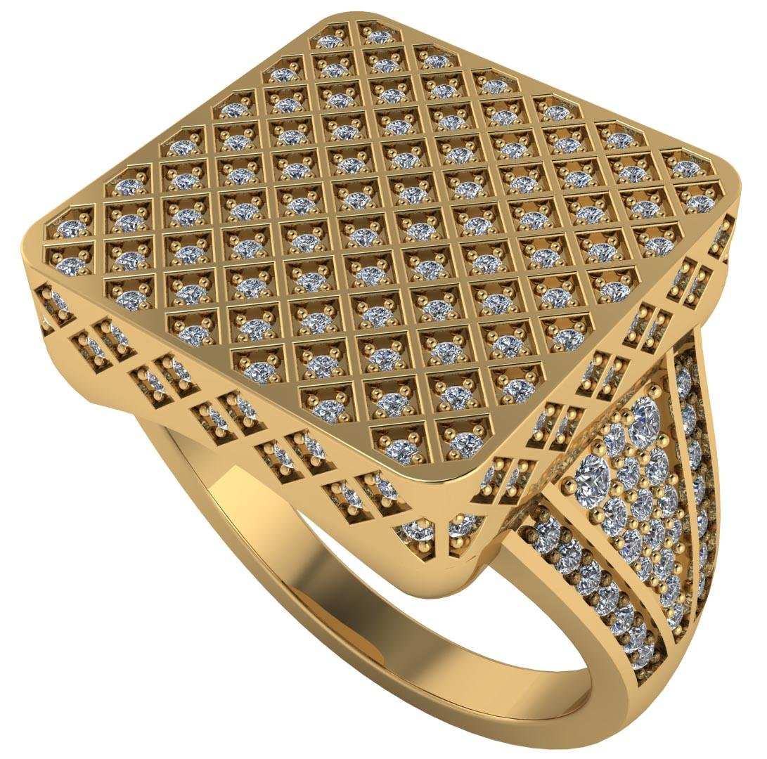 Certified 2.00 CTW Round Diamond 14K Yellow Gold Ring