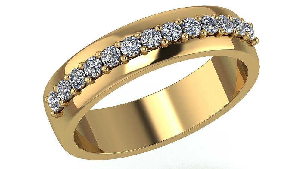 Certified .25 CTW Round Diamond 14K Yellow Gold Ring