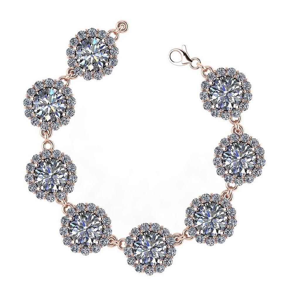 Certified 13.12 Ctw Diamond VS/SI1 Bracelet 14K Rose Go