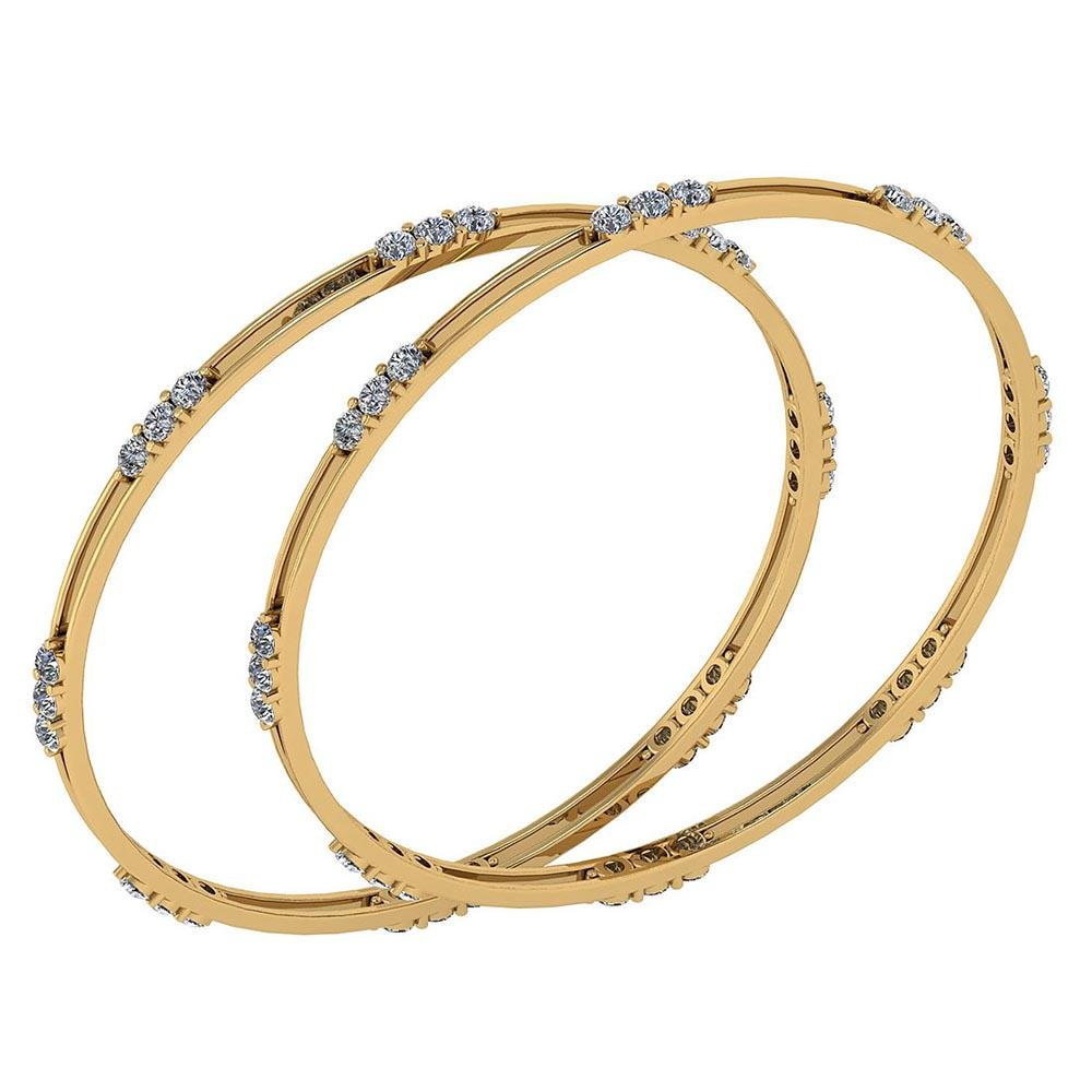 Certified 4.80 Ctw Diamond VS/SI1 Bangles 14K Yellow Go