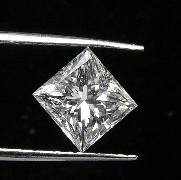 GIA CERTIFIED 0.51 CTW J/SI2 PRINCESS DIAMOND