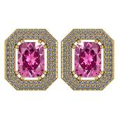 Certified 371 Ctw Pink Tourmaline And Diamond 14k Yell
