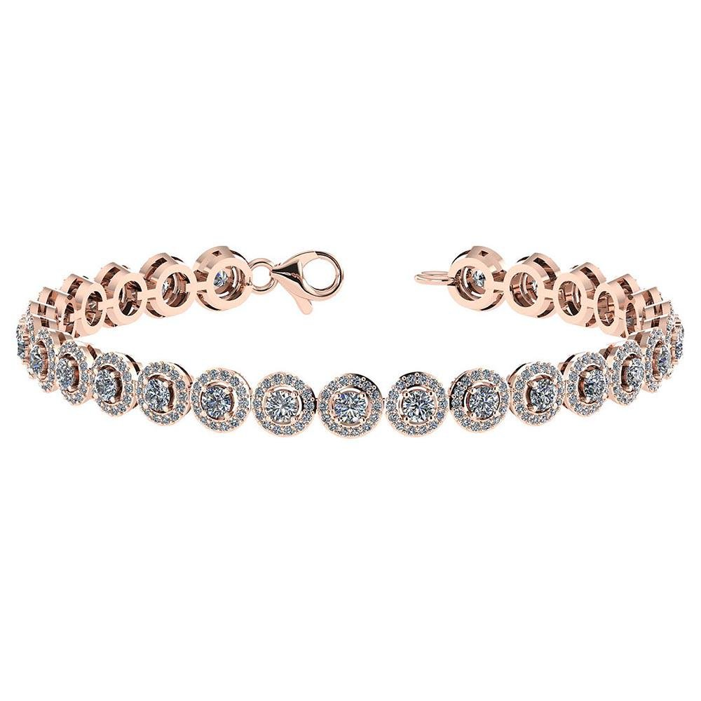 Certified 4.59 Ctw Diamond VS/SI1 Bracelet 14K Rose Gol