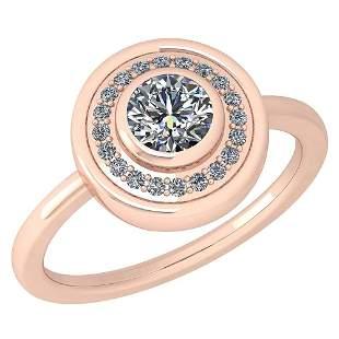 Certified 0.62 Ctw Diamond Styles Ring For beautiful la