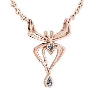 Certified 0.28 Ctw Diamond VS/SI1 Spider Necklace 14K R