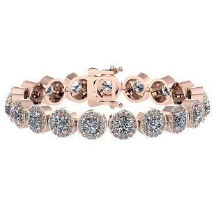 Certified 6.17 Ctw Diamond Bracelet VS/SI2 18K Rose Gol