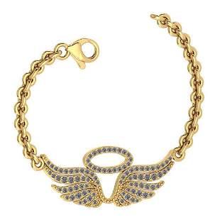 Certified 0.46 Ctw Diamond VS/SI1 Bracelet 14K Yellow G