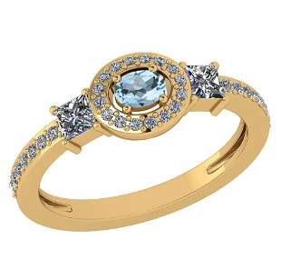 Certified 0.77Ctw Emerald And Diamond 18k Yellow Gold H