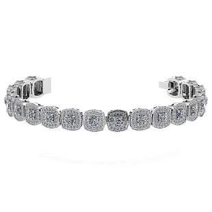 Certified 3.60 Ctw Diamond VS/SI1 Bracelet 14K White Go