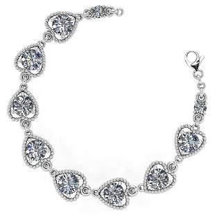 Certified 3.80 Ctw Diamond VS/SI1 Bracelet 14K White Go