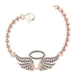 Certified 0.46 Ctw Diamond VS/SI1 Bracelet 14K Rose Gol