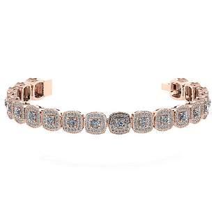 Certified 3.60 Ctw Diamond VS/SI1 Bracelet 14K Rose Gol