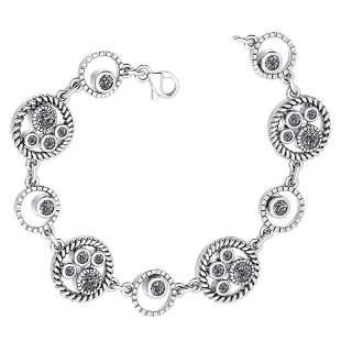 Certified 1.41 Ctw Diamond VS/SI1 Bracelet 14K White Go