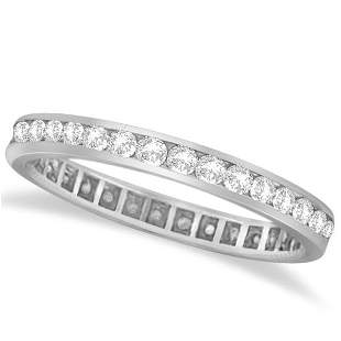 Channel Set Diamond Eternity Ring Anniversary Band plat