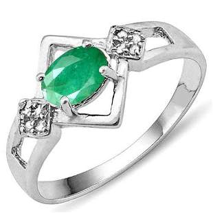 Certified 1.9 Ctw. Genuine Emerald And Diamond 14K Whit