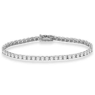 Eternity Diamond Tennis Bracelet 14k White Gold 7.08ctw