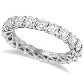 Luxury Diamond Eternity Band Anniversary Ring 14k White