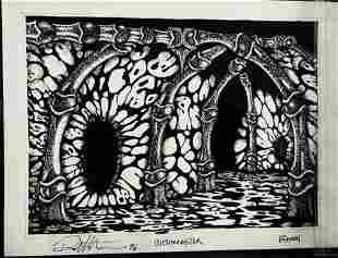 Wishmaster 1997 Djinn Throne Room Concept Artwork