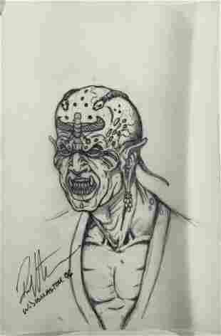 Wishmaster 1997 Djinn Head Concept Artwork Lot B