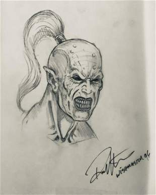 Wishmaster 1997 Djinn Head Concept Artwork Lot D