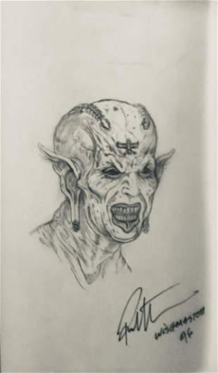 Wishmaster 1997 Djinn Head Concept Artwork Lot E