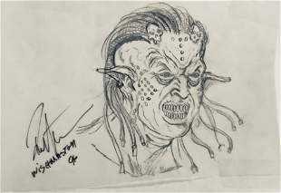 Wishmaster 1997 Djinn Head Concept Artwork Lot F