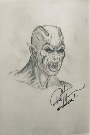 Wishmaster 1997 Djinn Head Concept Artwork Lot H