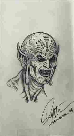 Wishmaster 1997 Djinn Head Concept Artwork Lot I