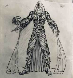 Wishmaster 1997 Djinn Full Body Concept Artwork