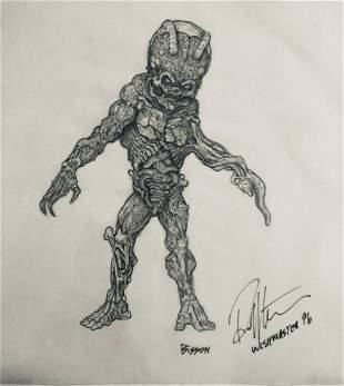 Wishmaster 1997 Djinn Baby Concept Artwork
