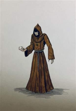 Wishmaster 1997 Djinn Cultist Color Concept Art