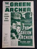 """Columbia Pictures 1957 """"THE GREEN ARCHER"""" Edgar Wallace"""