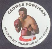 Ali 2001 George Foreman Boxing Match Badge