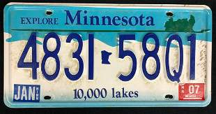 Fargo 2014 Billy Bob Thornton License Plate