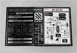 Alien: Covenant (2017) - Weyland Yutani Ship Label