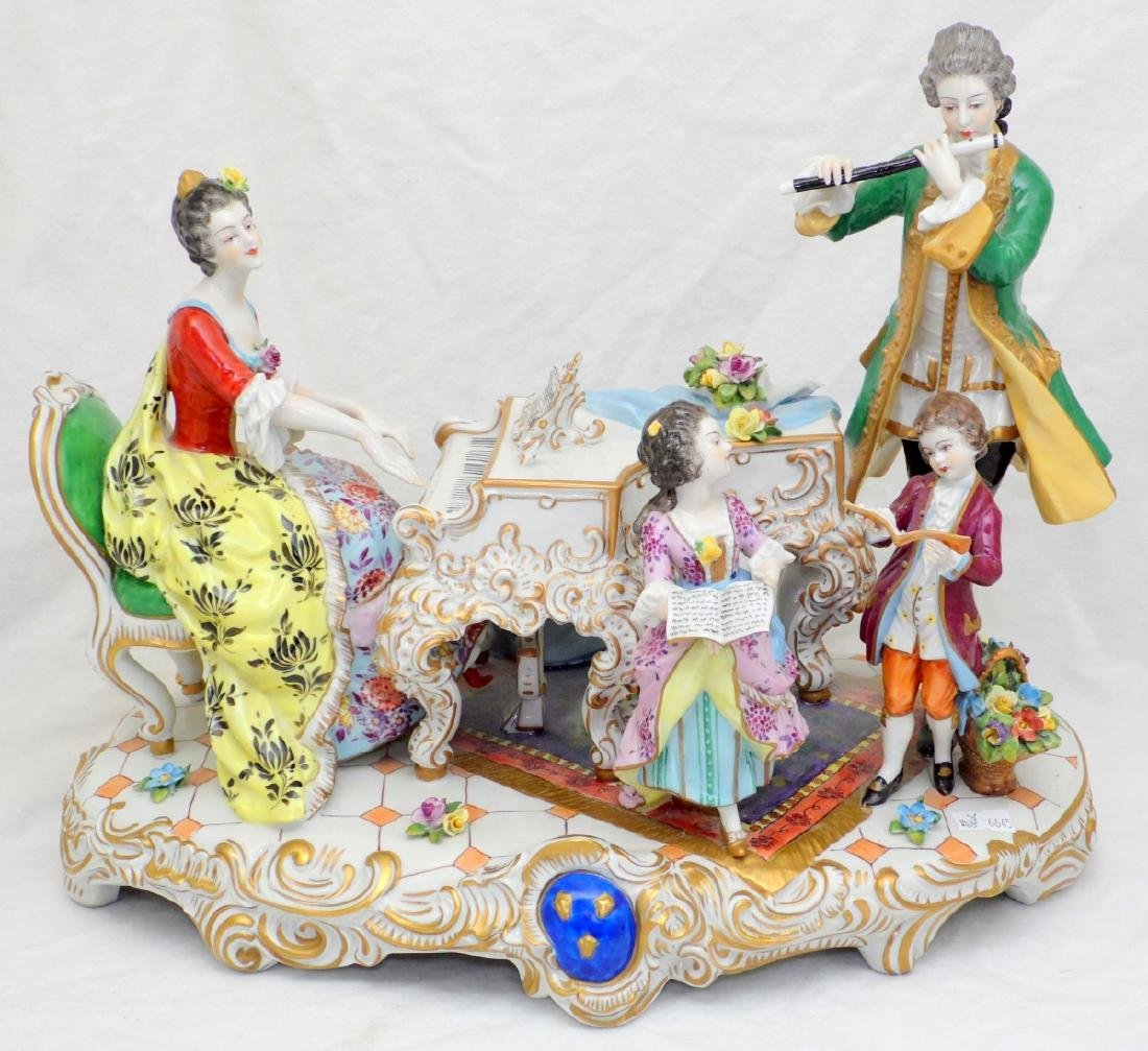 Volkstedt Dresden Muller & Co. Large Hand  Painted