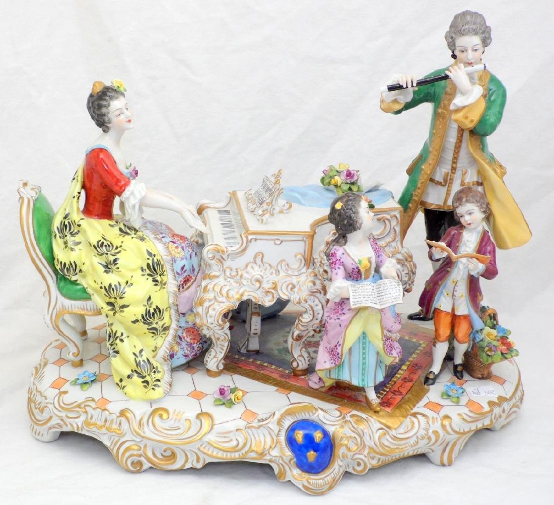 Volkstedt Dresden Muller & Co. Large Hand  Painted - 2