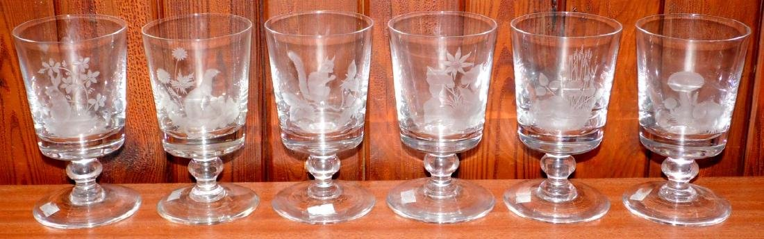 Rare Set of 6 Caithness British Wildlife  Crystal