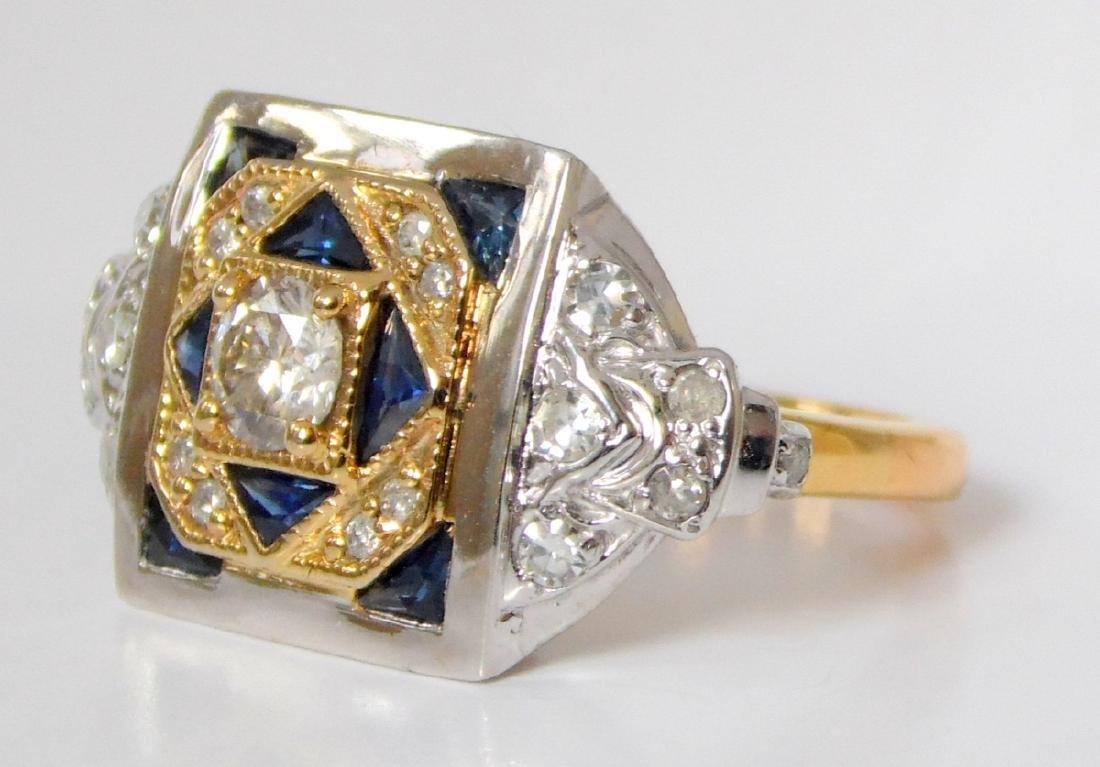 Super Vintage Art Deco 18ct Yellow/White Gold  Diamond