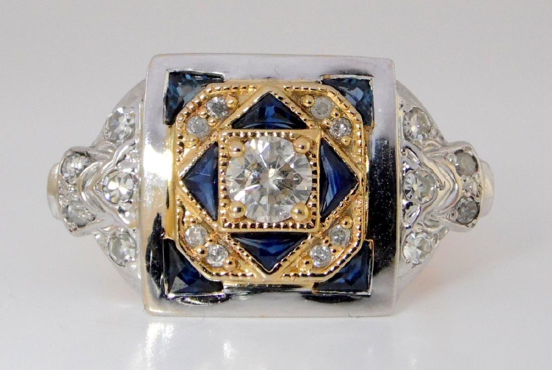 Super Vintage Art Deco 18ct Yellow/White Gold  Diamond - 3