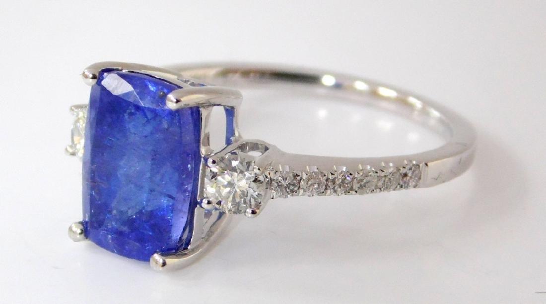 Larg Tanzanite and Diamond Dress Ring 18ct  White