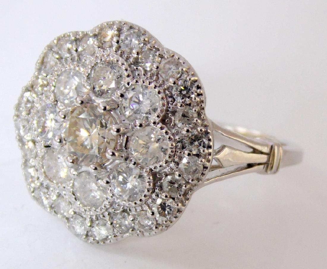 18ct White Gold Ladies 1.26ct Diamond Dress  Ring.