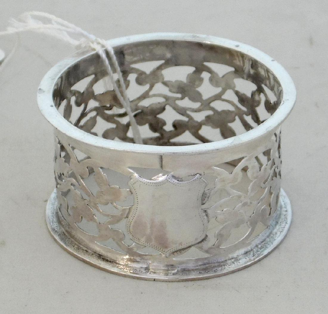 Edwardian Sterling Silver Pierced Napkin Ring  with
