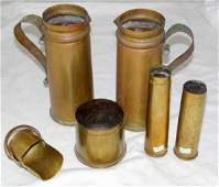 WW1 Trench Art Brass Collection