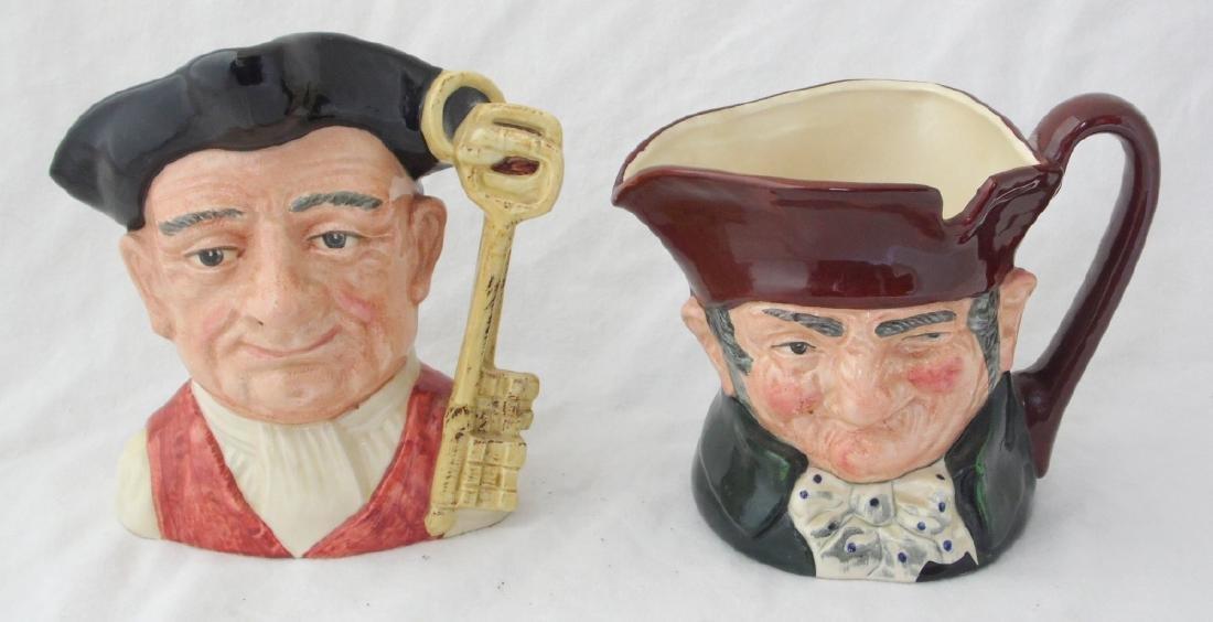 Royal Doulton Old Charley & Gaoler Character Jugs